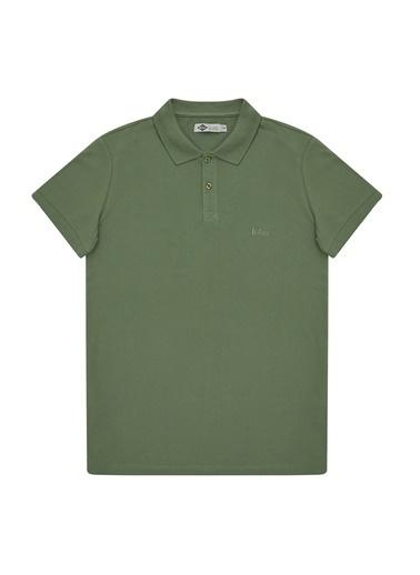 Lee Cooper Lee Cooper Erkek Yeşil Polo Yaka T-Shirt Yeşil